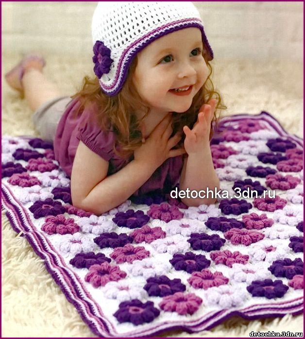Схема вязания одеяла.