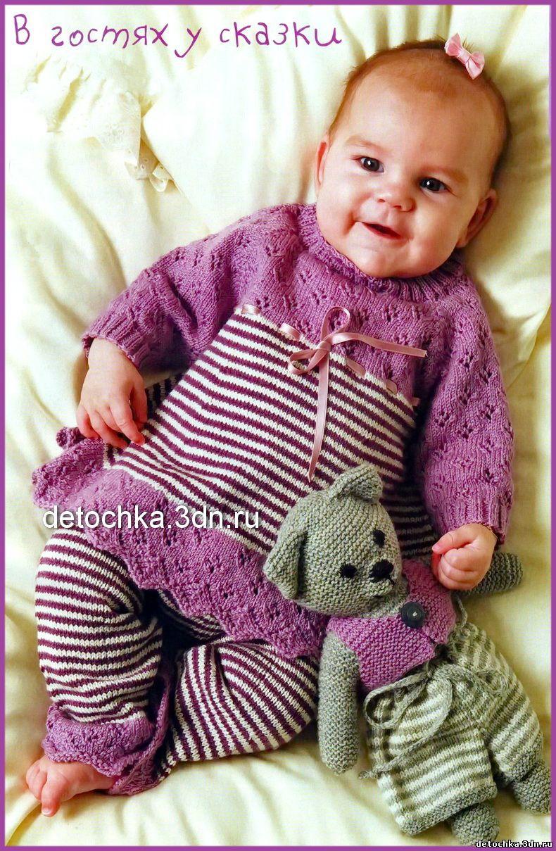 схемы вязаный костюмчик для девочки 1 год