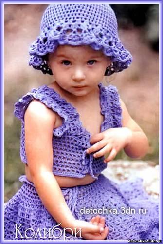 видео вязание ажурных платьев для девочек