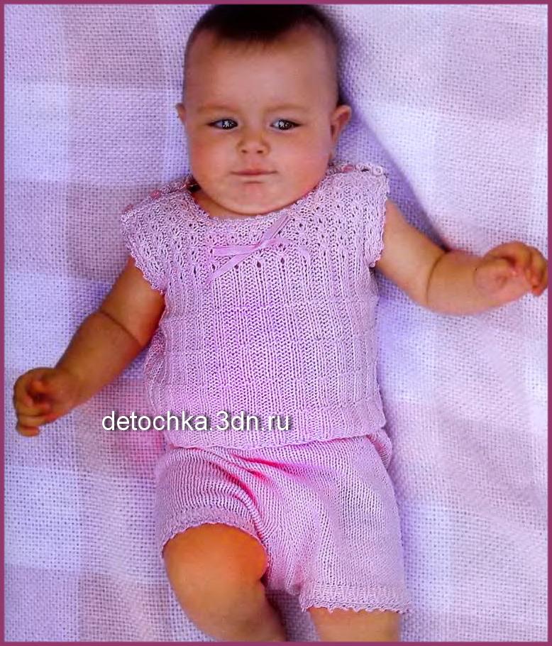 вязать комплект для малыша до года штанишки для малышей вязание