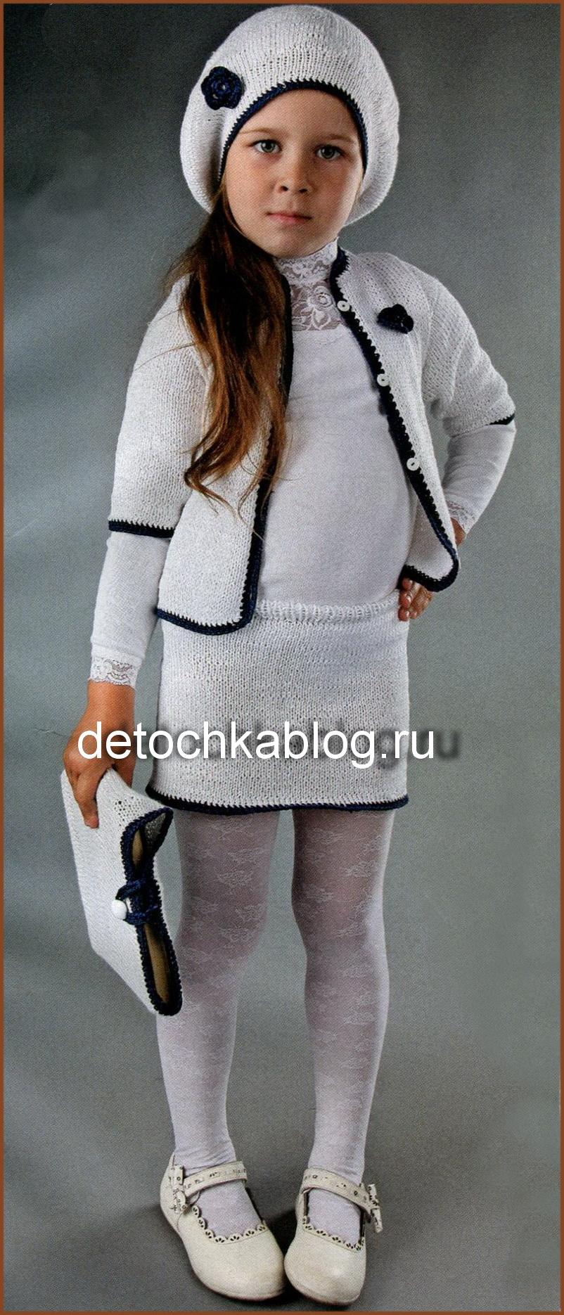 белый вязаный комплект для девочки вязание костюмов для девочек