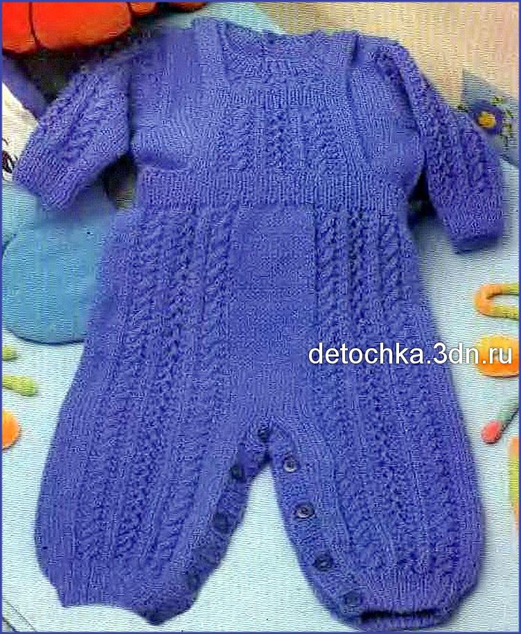 Связать спицами штанишки для новорожденного видео