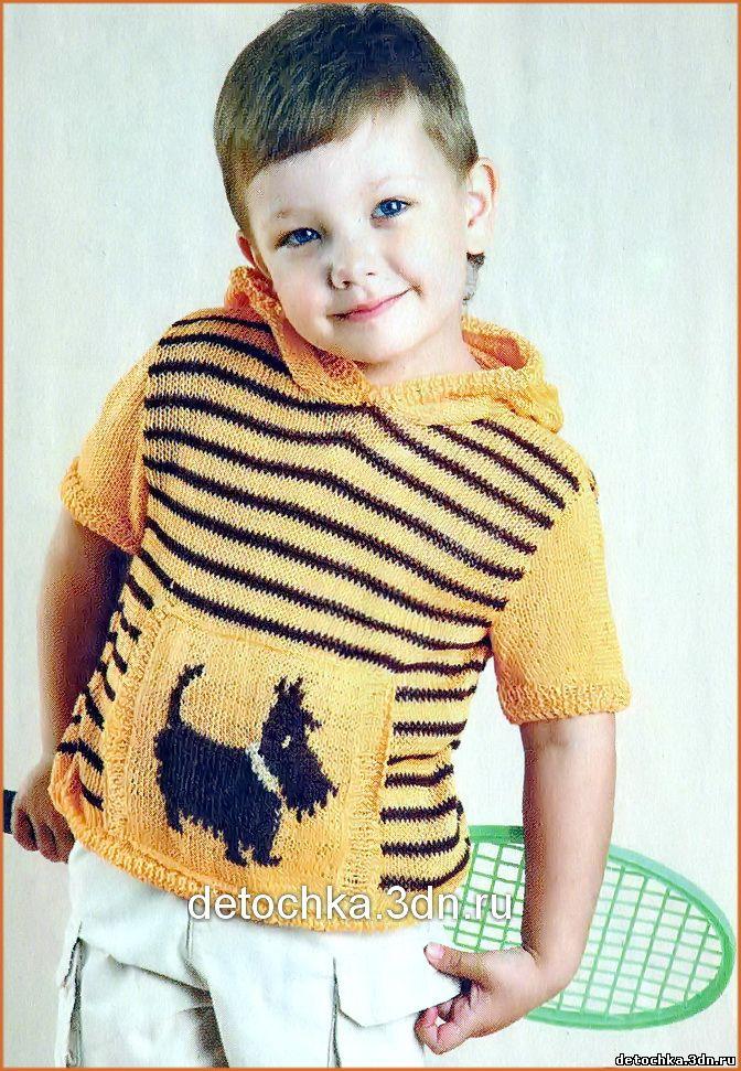 Вязать пуловер для мальчика с