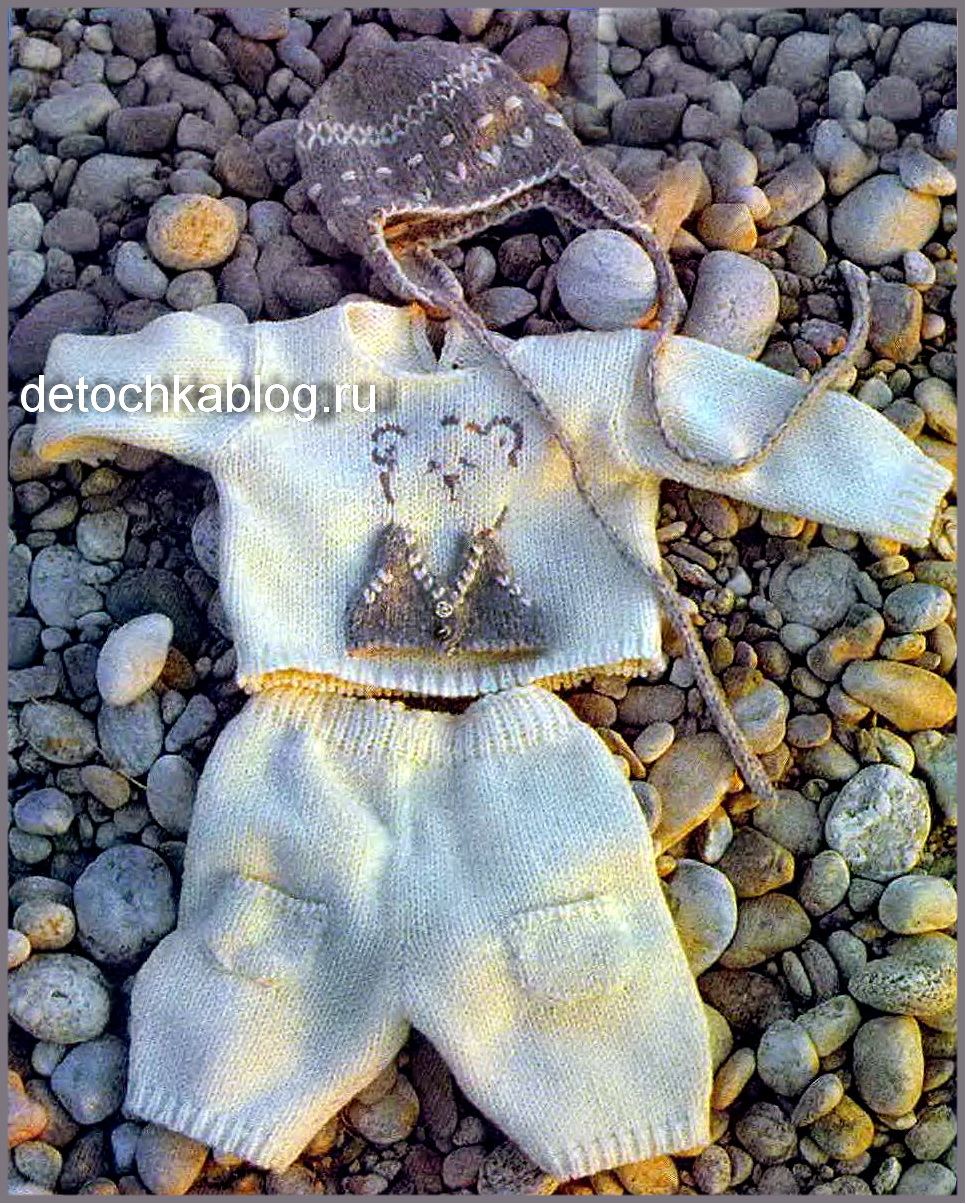 Вязанный комбинезон новорожденному спицами схемы
