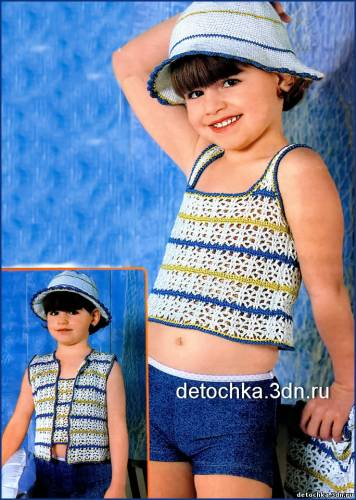 Вязание костюмов девочкам спицами крючком